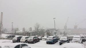 snow falls on england u0027s east coast beaches bbc news