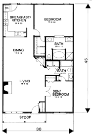 3 1350 sq ft ranch house plan cottage style house plan beds 1