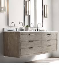 Modern Bathroom Vanity Toronto by Rh Modern White Oak Floating Vanity New Home Remodel Pinterest