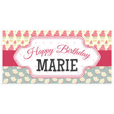 personalized photo backdrop cupcake happy birthday banner personalized party backdrop paper