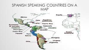 Blank Map Of Spain by Blank Map Of Spanish Speaking Countries My Blog