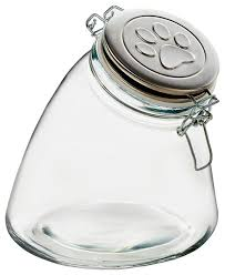 amici pet stainless steel paw canister contemporary kitchen
