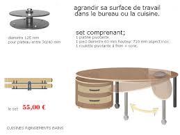 table cuisine pivotante impressionnant pied plan de travail cuisine 2 pied de table