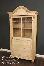 glazed vitrine linen cupboard continental antique pine