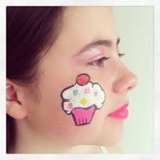 coloring page luxury easy face paintings kid cupcakes facepaint