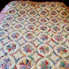 vintage multicolored windmill stars repro 1930 u0027s crisp quilt mint