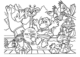 zoo animals coloring page for kids animal coloring pages