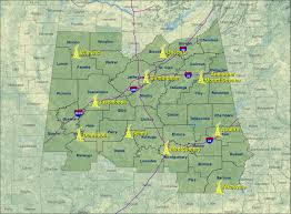 Midland Zip Code Map by Central Alabama Noaa Weather Radio Nwr