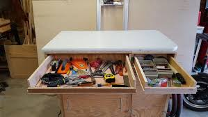 add a formica top u0026 drawers to your work bench with pictures