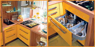 space saving ideas kitchen yellow and turquoise color combination for small kitchen design