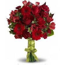 Red Wedding Bouquets Weddings U0026 Events Flowers Florist Flower Delivery Nyc 10010