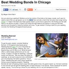 best wedding bands chicago wedding banned archive wedding banned voted best wedding