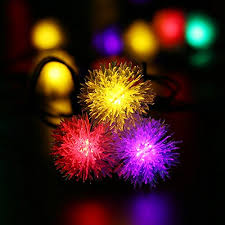 multi colored led christmas lights upgraded 50leds luckled chuzzle ball solar string lights 23ft led