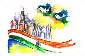 Flag If India Painting Of Indian Flag And Peace Birds Design Bundles