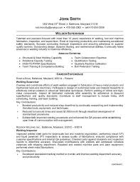 supervisor resume templates welder supervisor resume sle