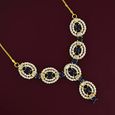 sapphire necklace set images Blue sapphire necklace set gold jewellery jpg