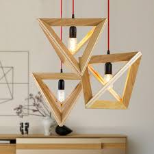 wooden pendant light wood lamp restaurant bar coffee dining room