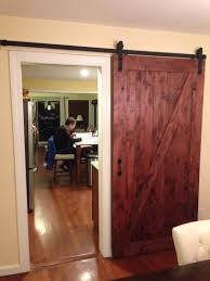 Interior Sliding Barn Door Kit Masonite 42 In X 84 In Z Bar Knotty Alder Wood Interior Barn