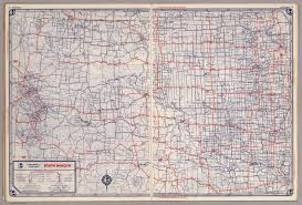 South Dakota Time Zone Map by Rand Mcnally Road Map South Dakota David Rumsey Historical Map