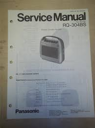 panasonic service manual rq 304bs cassette recorder original