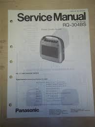 panasonic service manual rq 304bs cassette recorder original