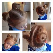 gorgeous double bun for miss holly i used small donut rings as