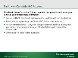 manulife investments guaranteed interest contract gic offering