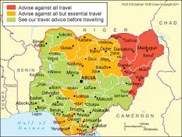 map of nigeria africa nigeria travel advice gov uk