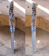opinel n 8 olivier opinel knife no 8 modified custom tiki moai handle