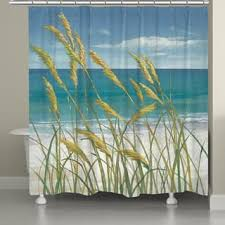 Sea Themed Shower Curtains Coastal Shower Curtains For Less Overstock Vibrant Fabric
