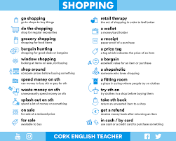 shopping phrases dialogs and phrasal verbs