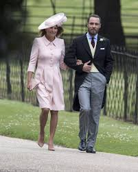 pippa middleton wedding mum carole arrives at church daily mail