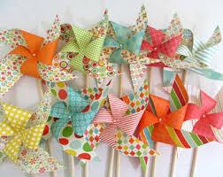 Pinwheel Decorations Birthday Decorations Paper Pinwheel Party Favors Birthday
