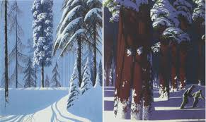 eyvind earle christmas cards open season diary 2d to 3d production design animation world