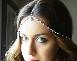 headpiece jewelry chain headpiece chain vintage chain headdress
