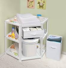 Forward Facing Changing Table Badger Basket Corner Baby Changing Table With