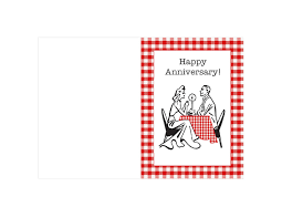 interesting printable anniversary card sle with white
