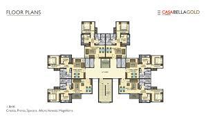 palava casa bella gold plan master plan floor plan u0026 unit plan