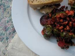 12 days of thanksgiving roasted brussels sprouts and beets with