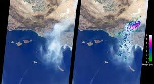 California Wildfire Database by Space Images Nasa U0027s Misr Studies Smoke Plumes From California U0027s