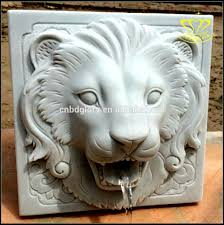 modern home courtyard classic lion head dragon head and bowl wall