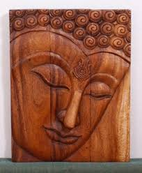 wall art buddha ushnisha wood panels wall decor kan thai decor