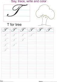 cursive captial letter u0027t u0027 worksheet