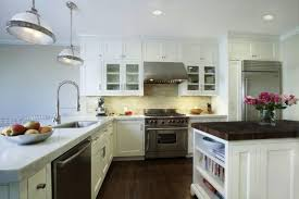Kitchen Neutral Paint Colors - white storage cabinets teal accent paint color for modern rustic