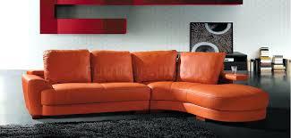 Orange Leather Sectional Sofa Orange Sectional Sofas Euprera2009