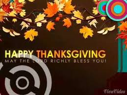 happy thanksgiving all my friends and family