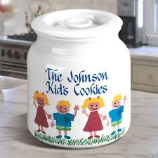 personalized cookie jars personalized cookie jar family kids design find pottery cookie