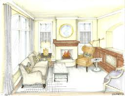 Living Room Architecture Drawing Interior Design Watercolor Rendering Google Search Design