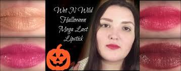 wet n wild halloween wet n wild halloween mega last lipstick lip swatches youtube