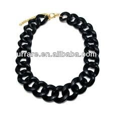 colored chain link necklace images Large thick black plastic curb link chain necklace buy colored jpg
